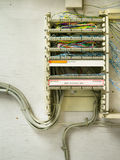 Complex Telephone wiring Stock Photos
