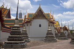 Complex of temple Wat Pho Royalty Free Stock Photo