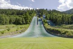 Complex of three ski jumps in Zakopane Stock Photography