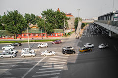 Complex traffic intersection Royalty Free Stock Images