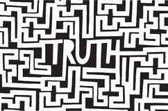 Complex truth as an intrincated maze Royalty Free Stock Image