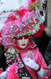 Complex Venetian disguise. Venice,Italy- February 26th, 2011: Image of a person disguised in a sophisticate costume during the Venice Carnival.The Carnival of Stock Image