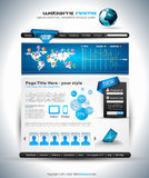 Complex Website Template - Elegant Design Stock Photo
