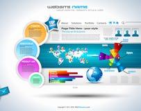 Complex Website Template - Elegant Design Royalty Free Stock Photos