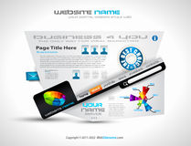 Complex Website Template - Elegant Design Royalty Free Stock Images