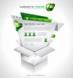 Complex Website Template - Elegant Design Stock Image