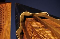 Complex Wereldhandelcentrum - de bak Rashid van Burj Mohamed Stock Afbeeldingen