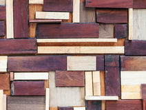 Complex wooden wall Royalty Free Stock Photos