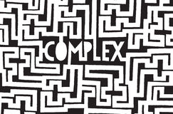 Complex word inside a chaotic maze Stock Photo