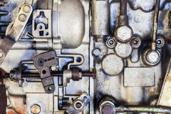 Complex workings is part of the old engine. From large machine Royalty Free Stock Image