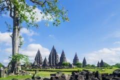 Complexe aantrekkelijkheidsplaats van Prambanan-tempel Stock Foto
