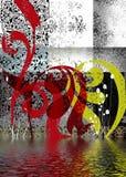 Complexe abstracte achtergrond Stock Afbeeldingen