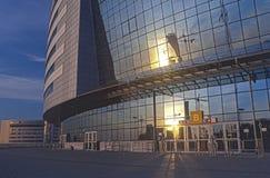 Complexe Achterkant van Minsk-Arena Sport. Werd gebouwd voor het Dragen O Royalty-vrije Stock Fotografie