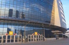 Complexe Achterkant van Minsk-Arena Sport. Werd gebouwd voor het Dragen O Royalty-vrije Stock Afbeelding