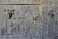 Complexe antique de Persepolis dans les pairs, Iran image stock