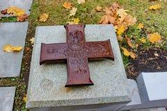 """Complexe commémoratif """"Katyn """"- un mémorial international aux victimes de la répression politique Il est situé dans la fo image stock"""
