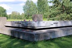 Complexe commémoratif dans Khatyn image libre de droits