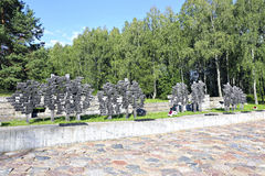 Complexe commémoratif dans Khatyn photographie stock libre de droits