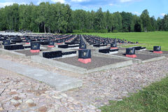 Complexe commémoratif dans Khatyn photos libres de droits
