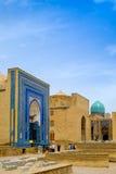 Complexe commémoratif de Shah-Je-Zinda, nécropole à Samarkand, l'Ouzbékistan photographie stock
