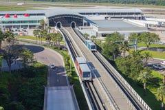 Complexe d'Airside à l'aéroport de Tampa Internartional à Tampa, la Floride, Etats-Unis Photos stock