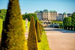 Complexe de bâtiment de belvédère à Vienne, Autriche images stock
