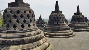 Complexe de Borobudur de temple bouddhiste d'héritage dans Yogjakarta dans Java, Indonésie image stock