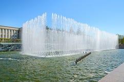 Complexe de fontaine sur la place de Moscou à Pétersbourg, Russie. Images stock