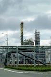complexe de Gaz-produit chimique sur la production de polypropylène image stock