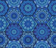 Complexe 3 de Honey Comb Hex Pattern Flower Images libres de droits