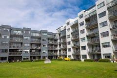 Complexe de logements à Reykjavik Images stock