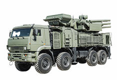 Complexe de missile-arme à feu de défense aérien Photo stock