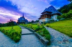 Complexe de monastère de Barsana dans Maramures Image stock