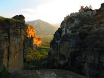 Complexe de monastère de Meteora Photo stock