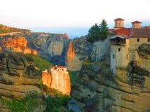 Complexe de monastère de Meteora Image stock