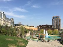 Complexe de Palas dans Iasi (Roumanie) Photo stock
