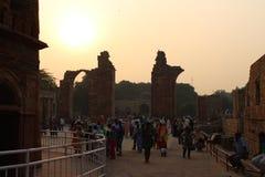 Complexe de Qutb Minar dans Mehrauli, New Delhi, Inde image libre de droits