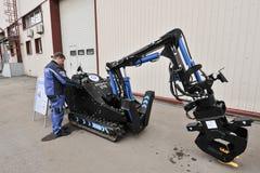 Complexe de robotique pour le travail dans des accidents de rayonnement Photo libre de droits