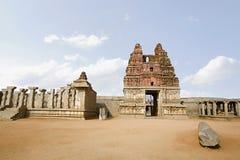 Complexe de tempel van de Hampierfenis, Hampi, Karnataka India stock foto
