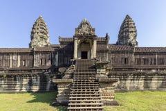 Complexe de temple antique d'Angkor Vat, mille bibliothèques du nord de Dieu, un des plus grands monuments religieux dans le mond photos stock