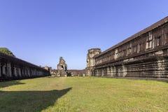Complexe de temple antique d'Angkor Vat, mille bibliothèques du nord de Dieu, un des plus grands monuments religieux dans le mond photo libre de droits