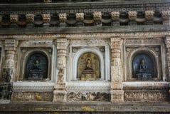 Complexe de temple de Mahabodhi dans Gaya, Inde Photographie stock libre de droits