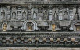 Complexe de temple de Mahabodhi dans Gaya, Inde Photo libre de droits