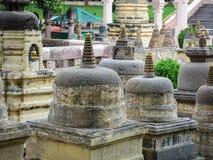 Complexe de temple de Mahabodhi dans Gaya, Inde Photos libres de droits