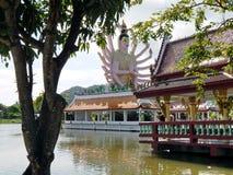 Complexe de temple de Plai Laem Photo stock