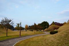 Complexe de tombe de Daereungwon Images libres de droits