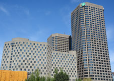 Complexe Desjardins. MONTREAL CANADA SEPT 15 2016 : Complexe Desjardins is a mixed-use office, hotel, and shopping mall complex located in Montreal, Quebec Stock Photography
