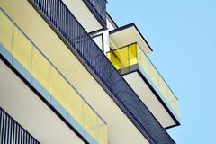 Complexe europ?en moderne des immeubles image libre de droits