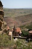 Complexe het klooster van David Gareja Royalty-vrije Stock Foto's