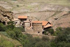 Complexe het klooster van David Gareja Royalty-vrije Stock Afbeeldingen